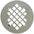 Sioux Chief  4-14 in. Chrome  Stainless Steel  Shower Drain Strainer
