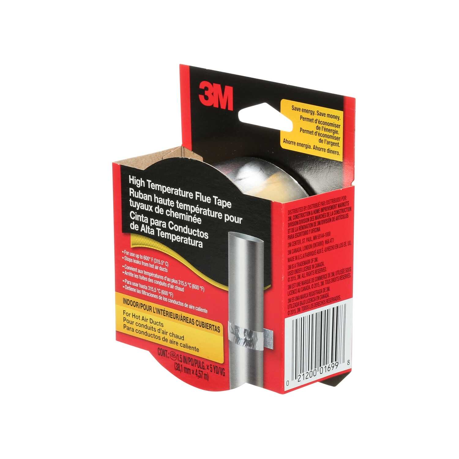 3M  1.5 in. W x 5 yd. L Silver  Duct Tape