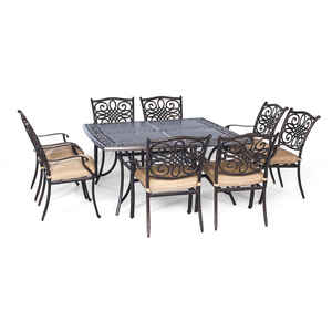 Hanover  9 pc. Traditions  Dining Patio Set  Tan
