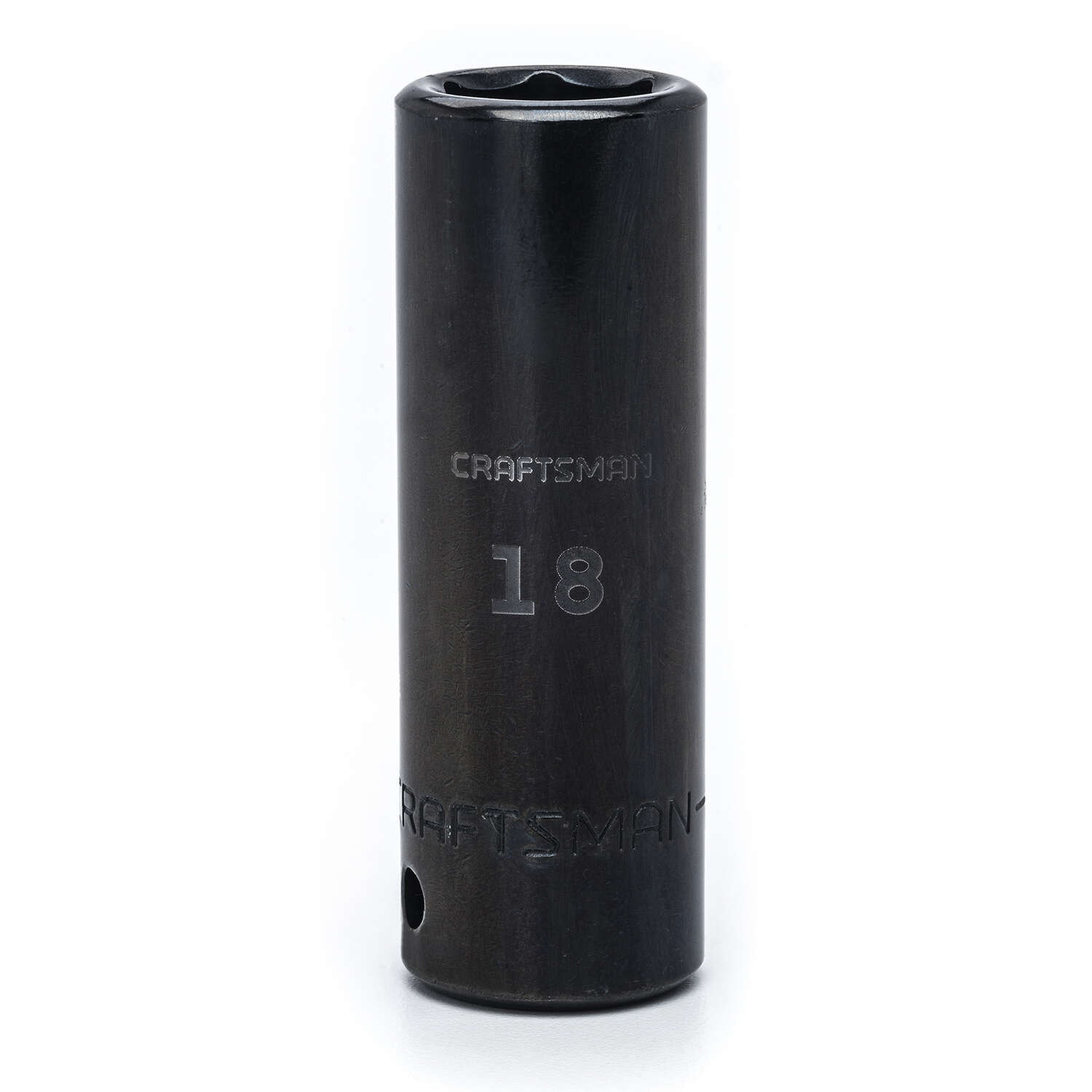 Craftsman  18 mm  x 1/2 in. drive  Metric  6 Point Deep  Deep Impact Socket  1 pc.