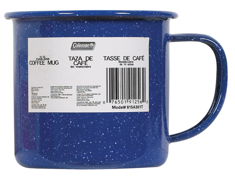 Coleman  Coffee Mug  3.25 in. H x 3.13 in. W x 4.5 in. L