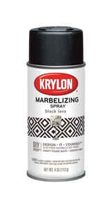 Krylon  Marbelizing  Black Lava  Spray Paint  4 oz.
