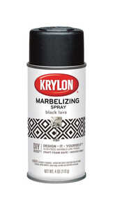 Krylon  Marbelizing  Black Lava  4 oz. Spray Paint
