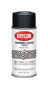 Krylon  Marbelizing  Spray Paint  4 oz. Black Lava