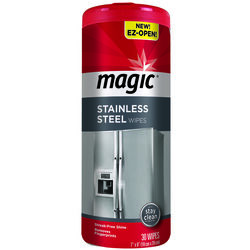 Magic  Fresh Clean Scent Stainless Steel Magic Wipes  30 pk Wipes