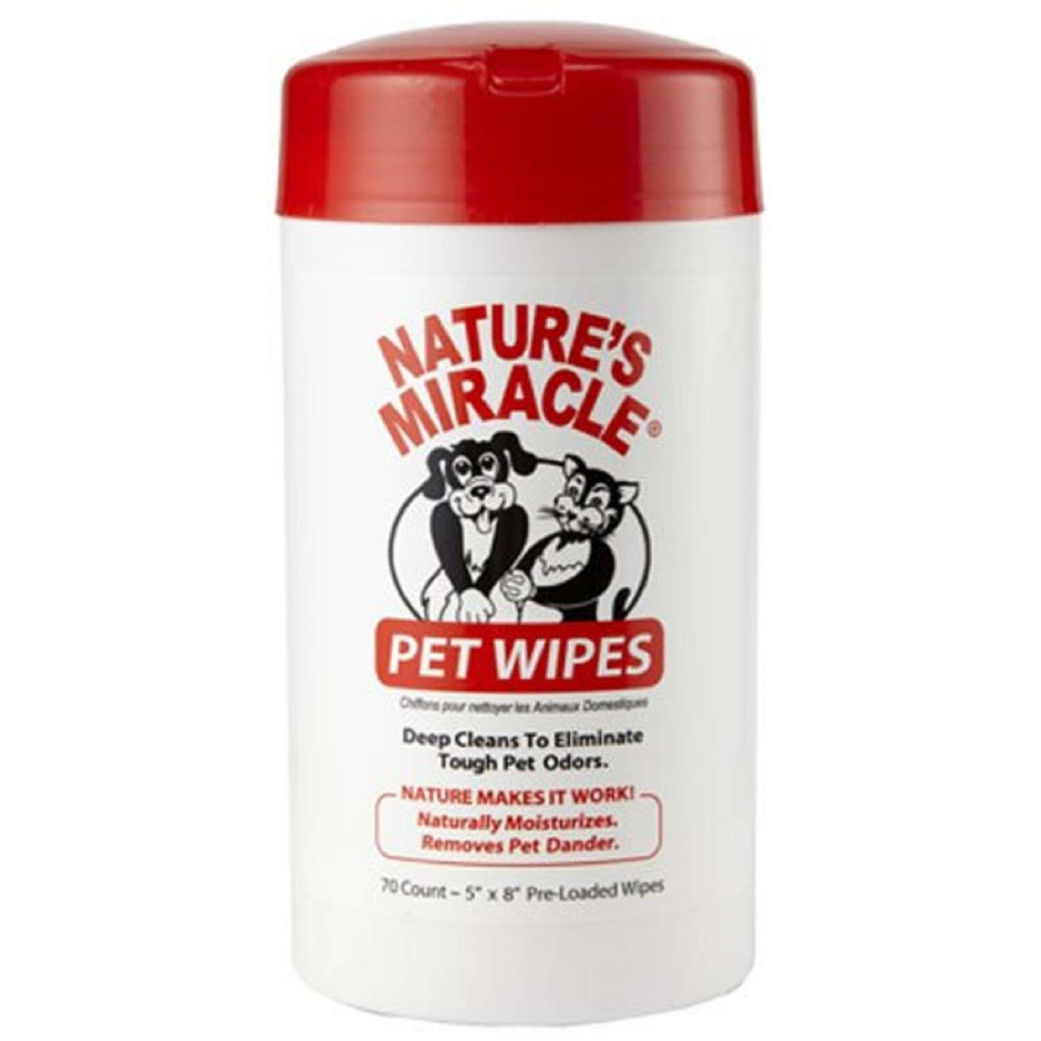 Nature's Miracle  White  Cat/Dog  Wipes  70