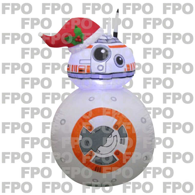 gemmy star wars bb8 with santa hat christmas inflatable 1 pk fabric