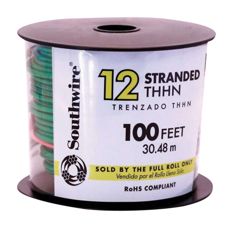 Southwire  100 ft. 12/1  THHN  Building Wire  Stranded