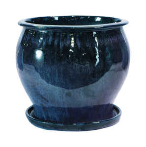 Trendspot  8 in. H Blue  Ceramic Pot