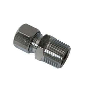 Plumb Pak  3/8 in. MIP   x 3/8 in. Dia. Compression  Chrome  Straight Connector