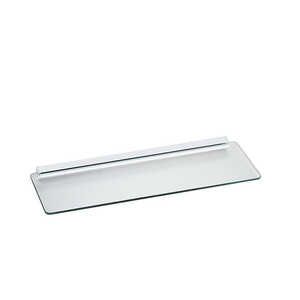 Knape & Vogt  1/4 in. H x 6 in. W x 6 in. D x 18 in. D Shelf Kit  Clear  Glass