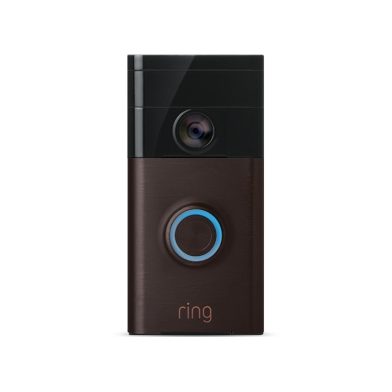 Ring Video DoorbellRing Venetian Bronze Brown Metal/Plastic Wireless Video Doorbell