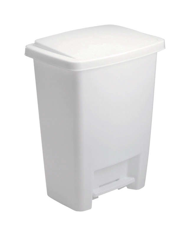 Rubbermaid 8.25 gal. White Plastic Step On Wastebasket