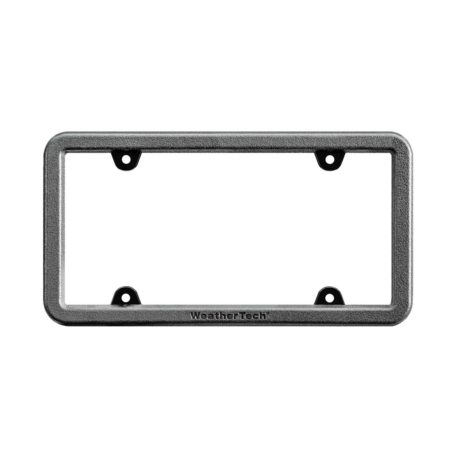 WeatherTech  Black  Polycarbonate  License Plate Bumper Frame