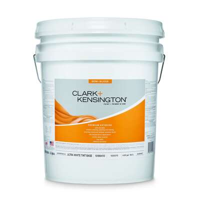 Clark+Kensington  Semi-Gloss  Tint Base  Ultra White Base  Acrylic Latex  Premium Paint  Exterior  5