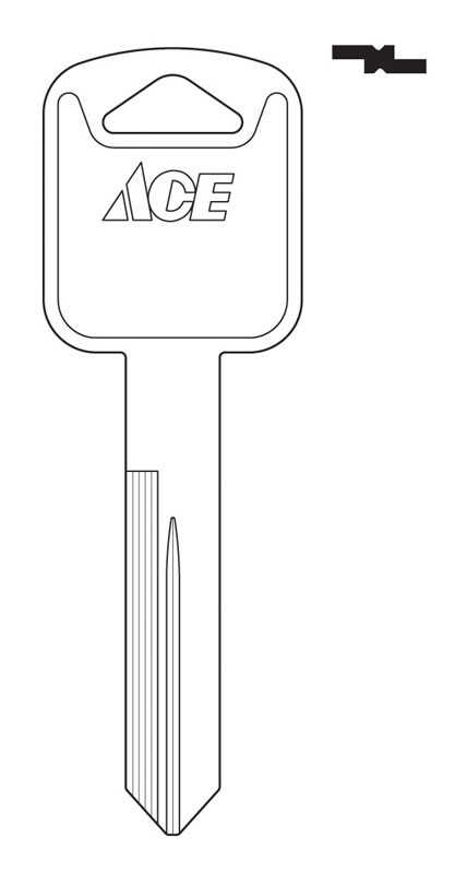 Ace  Automotive  Key Blank  EZ# H75  Double sided For Ford