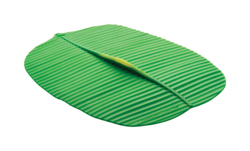 Charles Viancin 10 in. W x 13 in. L Green Silicone Large Banana Leaf Lid