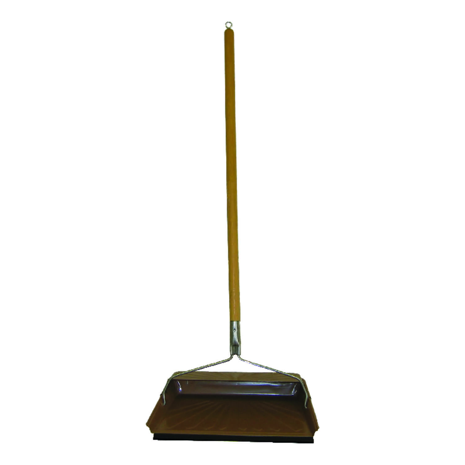 Fulton  Steel  Long Handled Stand-up Hooded  Dust Pan