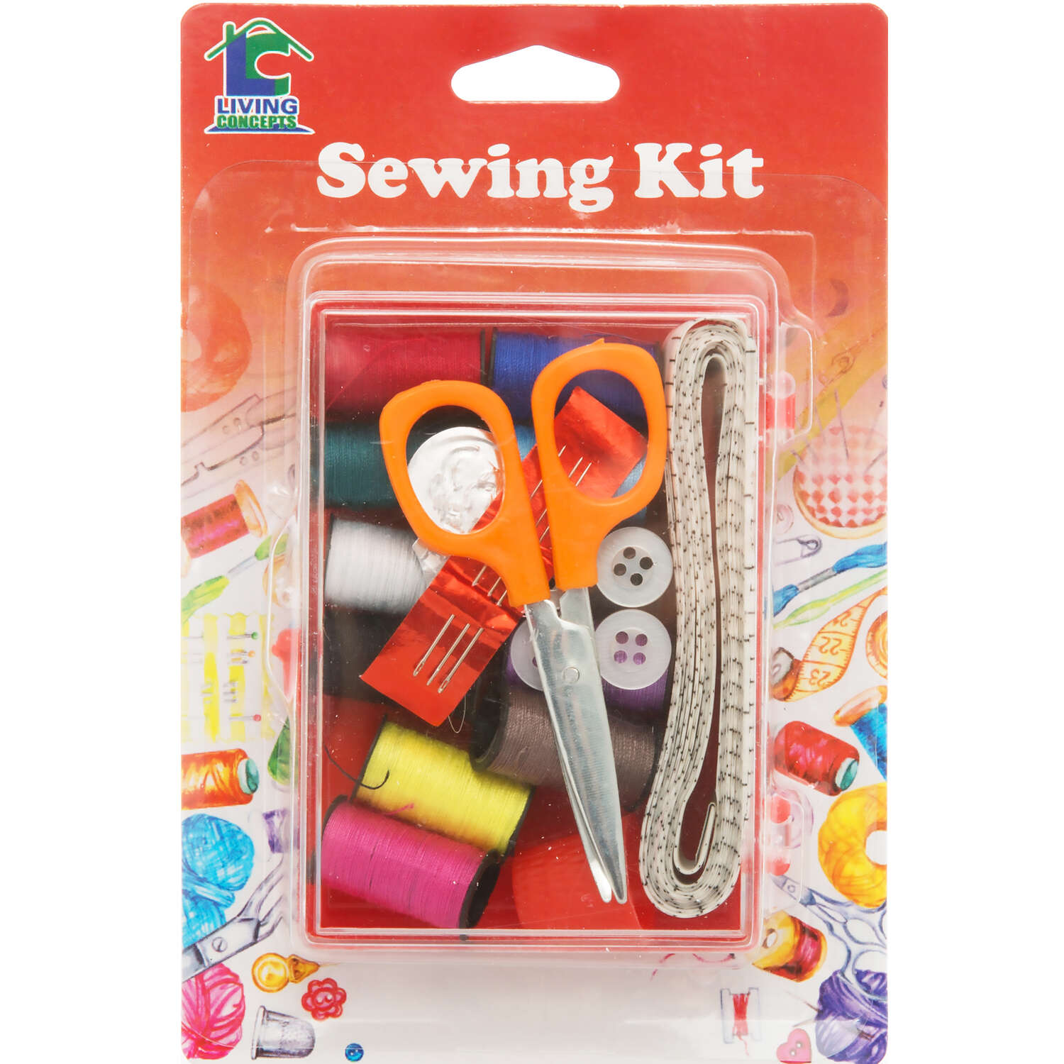 Living Concepts  Compact  Sewing Kit  1 pk