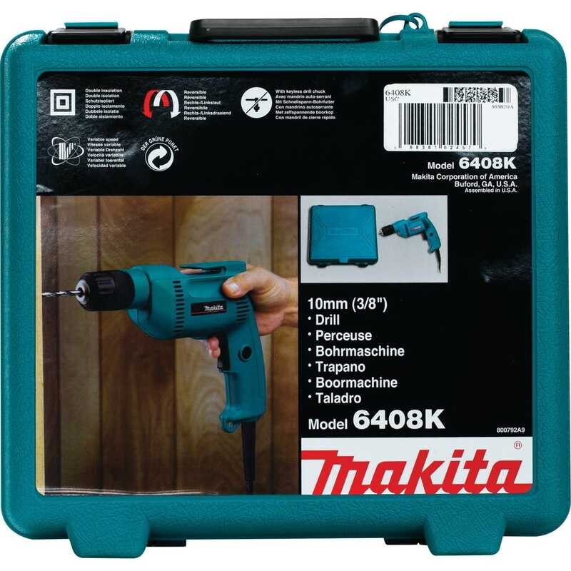 Makita  3/8 in. Keyless  Corded Drill  4.9 amps 2500 rpm