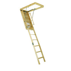 Century  8.9 ft. H x 25.5 in. W Wood  Attic Ladder  Type 1  250 lb.