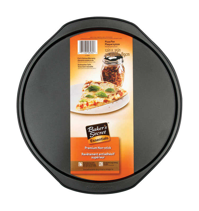 Baker's Secret  12 in. W x 12 in. L Pizza Pan  Gray
