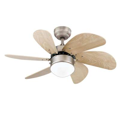 Westinghouse  Turbo Swirl  30 in. Brushed Aluminum  Brown  Indoor  Ceiling Fan