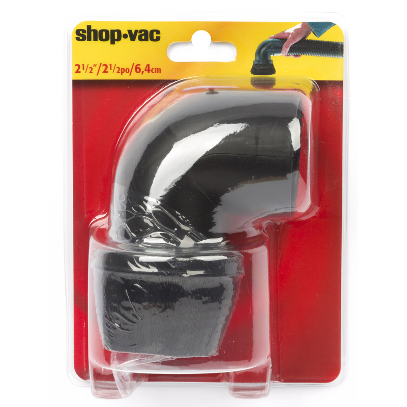 Shop-Vac  8  L x 5.5 in. W x 2.5 in. Dia. Right Angle Brush  Black  1 pk