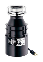 InSinkErator Badger 1/2 hp Continuous Feed Garbage Disposal with Power Cord