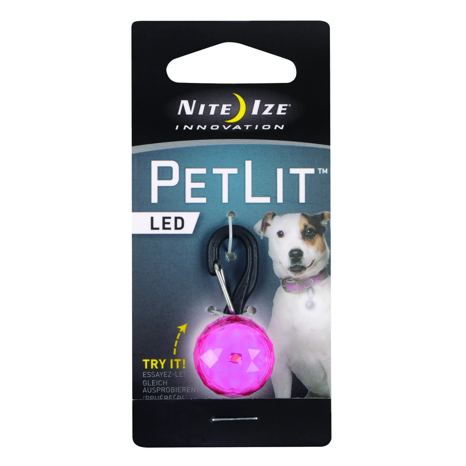 Nite Ize  PetLit  Pink  PetLit  Plastic  Ball and Collar Light