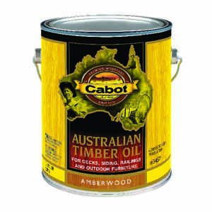 Cabot  Transparent  Amberwood  Oil-Based  Penetrating Oil  Australian Timber Oil  1 gal.
