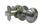 Faultless  Fancy Mushroom  Satin Nickel  Steel  Passage Door Knob  3  Right Handed