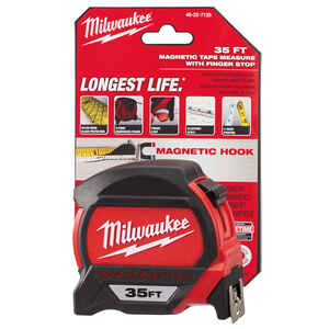Milwaukee  35 ft. L x 1.83 in. W Premium  Red  1 pk Magnetic Tape Measure