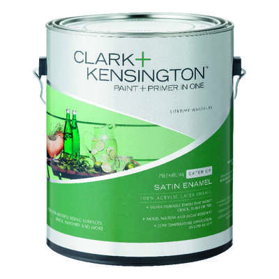 Ace Clark+Kensington Satin Midtone Hi-Hide Base House/Trim Paint Exterior 1 gal.