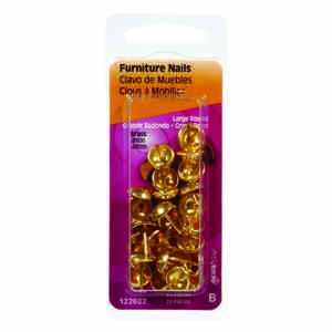 Hillman  Large   Brass-Plated  Brass  Furniture Nails  25 pk