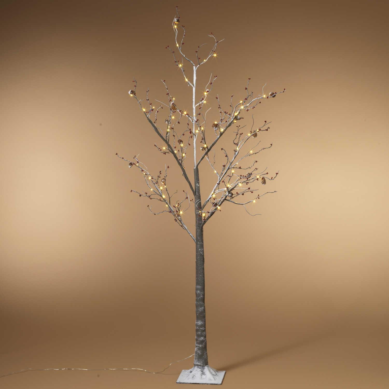 Gerson Snowy Berry PVC 1 pk Christmas Tree Gray - Ace Hardware