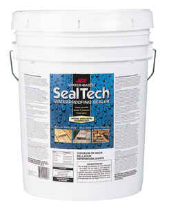Ace  SealTech  Smooth  Clear  Water-Based  Multi-Surface Waterproofer  5 gal.