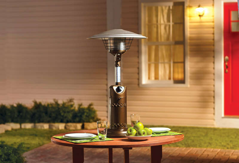 Living Accents  Table Top  Patio  10,000 BTU Steel  Patio Heater