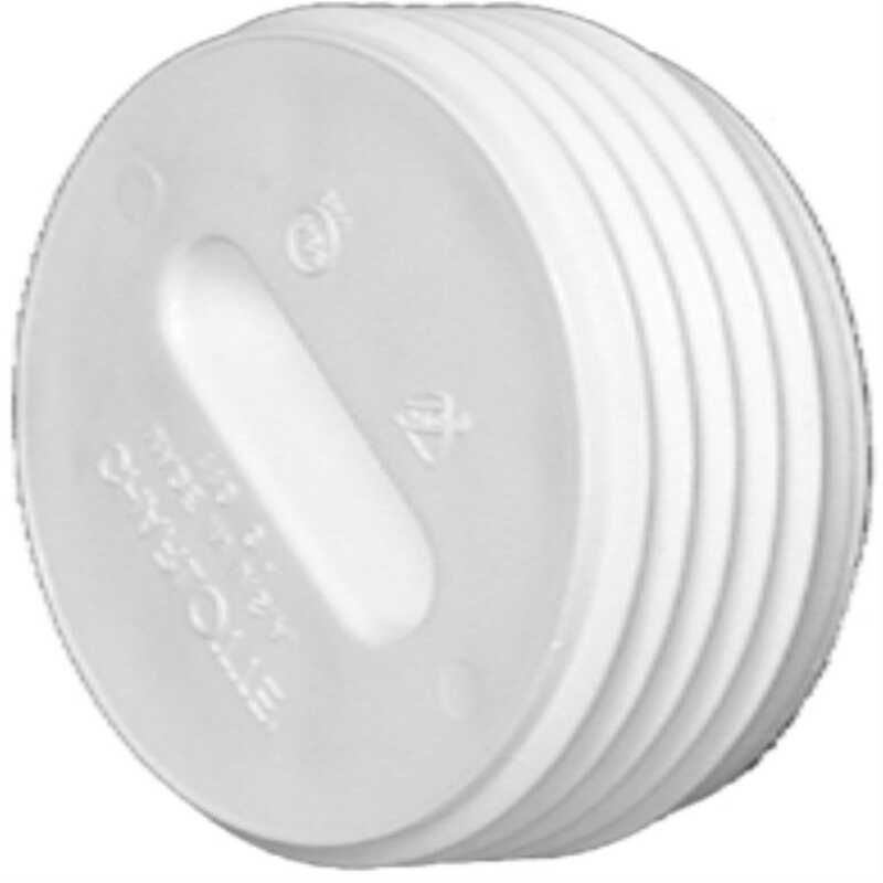 Charlotte Pipe  Schedule 40  3 in. MPT   x 3 in. Dia. Hub  PVC  Clean-Out Plug