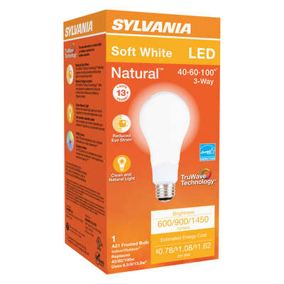 Sylvania  Natural  A21  E26 (Medium)  LED Bulb  Soft White  40/60/100 Watt Equivalence 1 pk