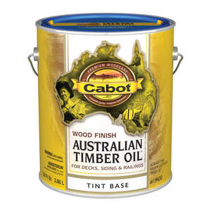 Cabot  Australian Timber Oil  Transparent  Tintable Tintable Base  Natural Oil/Waterborne Hybrid  Au