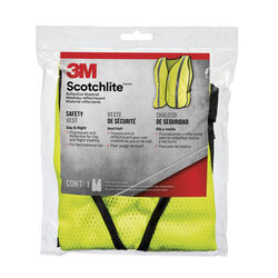 3M  Scotchlite  Reflective Polyester Mesh  Day/Night  Safety Vest  Yellow  One Size Fits Most