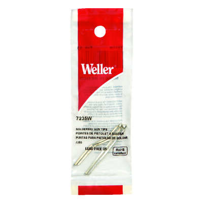 Weller  Lead-Free Soldering Iron Tip  Copper  2 pc.