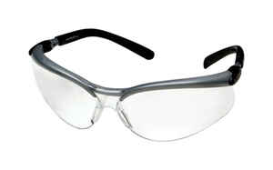 3M  BX  Anti-Fog Safety Glasses  Clear Lens Black/Gray Frame 1 pc.