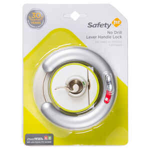 Safety 1st  White  Plastic  No Drill Lever Handle Lock  1