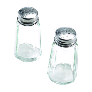 Lifetime  Clear  Glass  SALT AND PEPPER SET  Salt and Pepper Set  2 pk