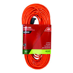 Ace Indoor or Outdoor 100 ft. L Orange Extension Cord 16/2 SJTW