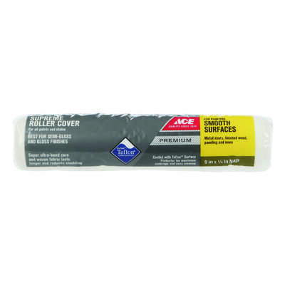 Ace  Premium  Dralon  1/4 in.  x 9 in. W Paint Roller Cover  1 pk