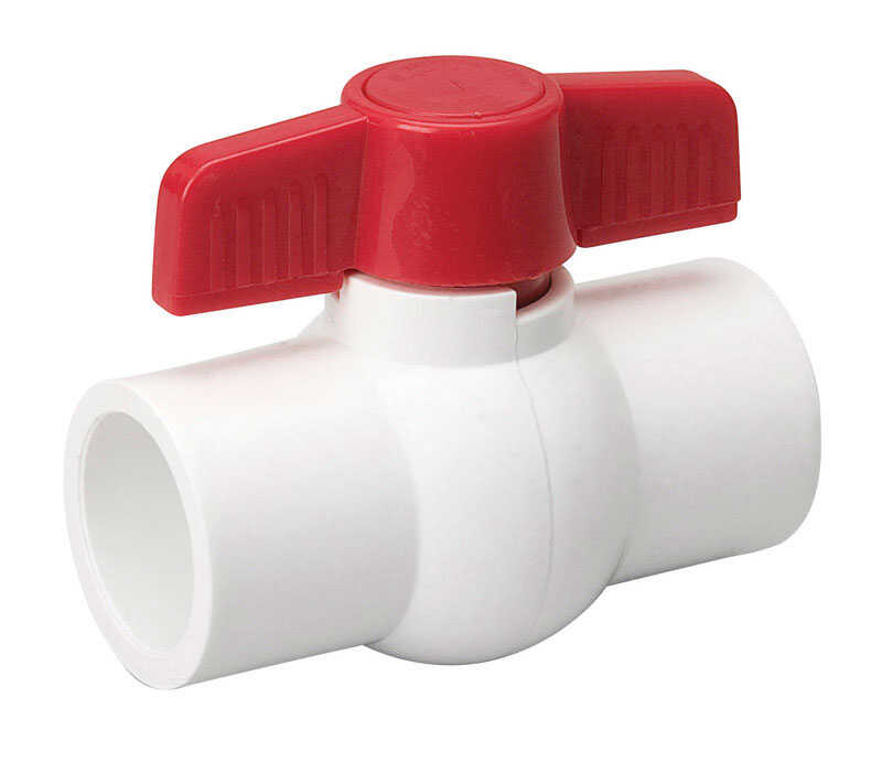 Mueller  Ball Valve  2 in. Dia. x slip   x 2 in. Dia. slip  PVC  Ball