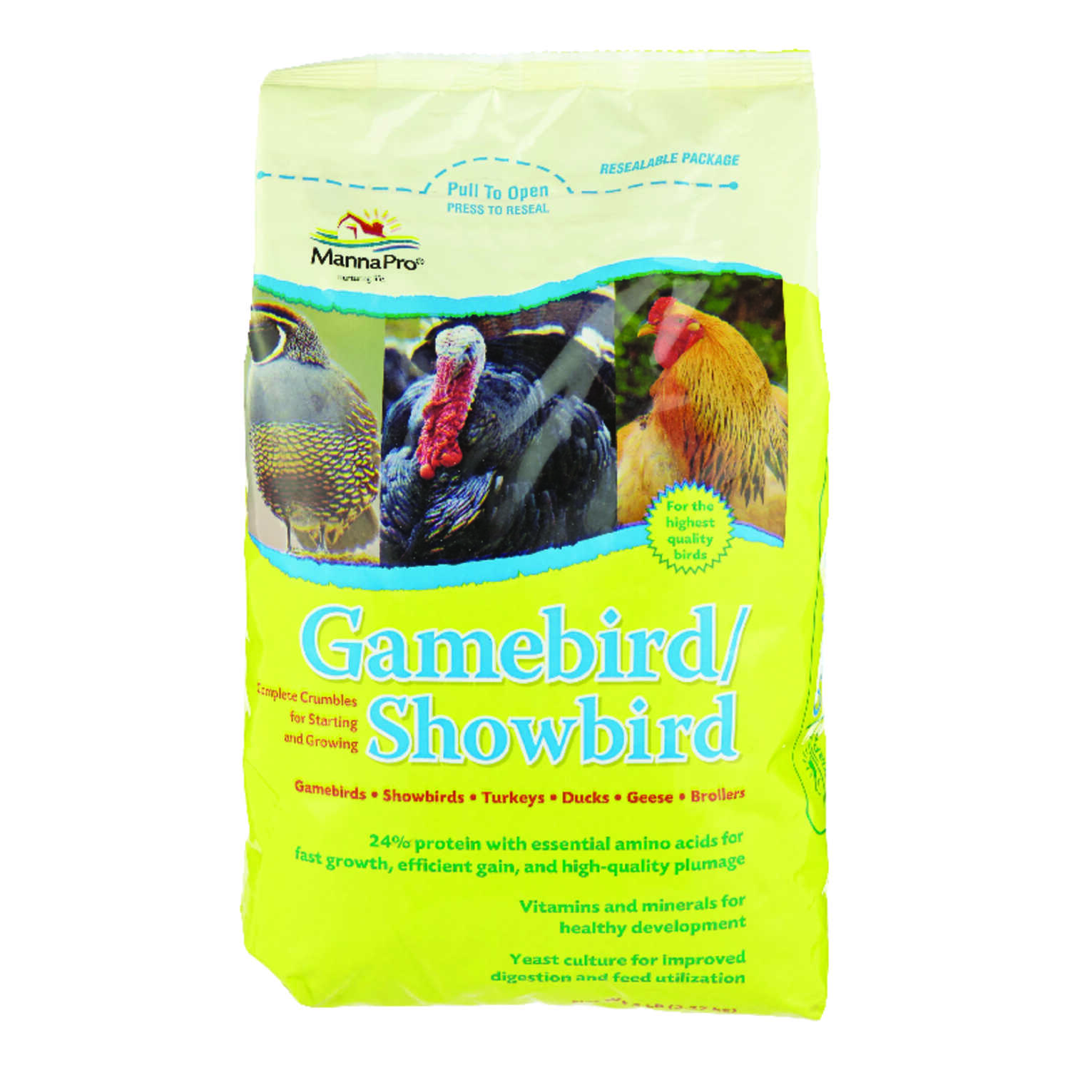Manna Pro  Gamebird/Showbird  Food  Crumble  For Poultry 5 lb.